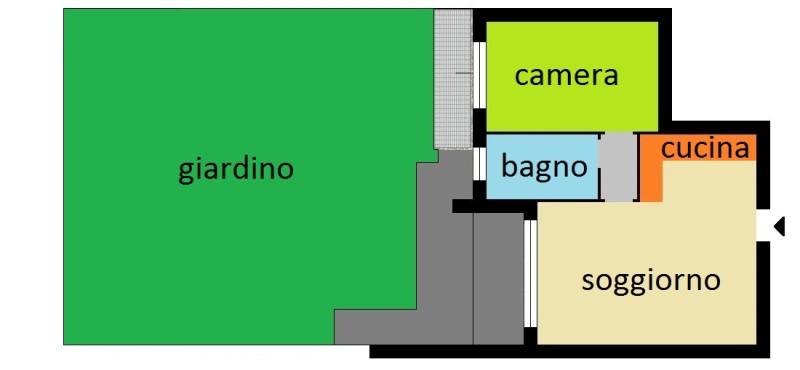 Appart. 5A mq65+giardino mq.77 €134